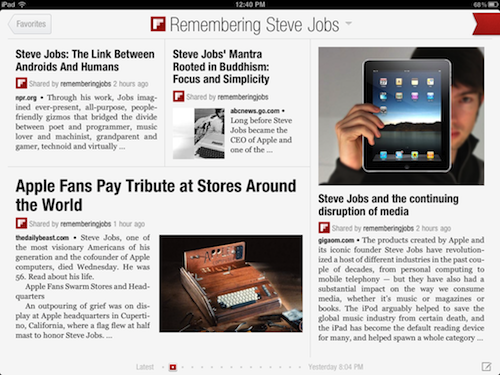 Flipboard: Remembering Steve Jobs